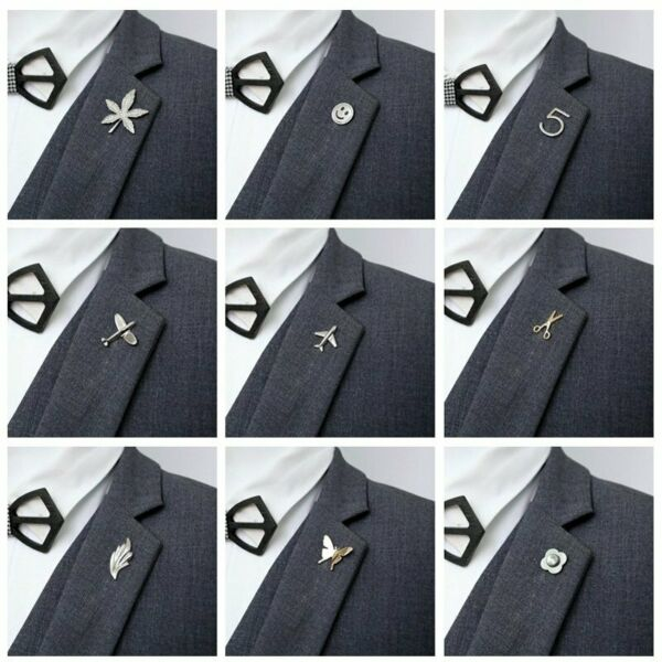 Fashion Crystal Plane Smile Suit Shirt Collor Brooch Pin Lapel Pins Party Unisex