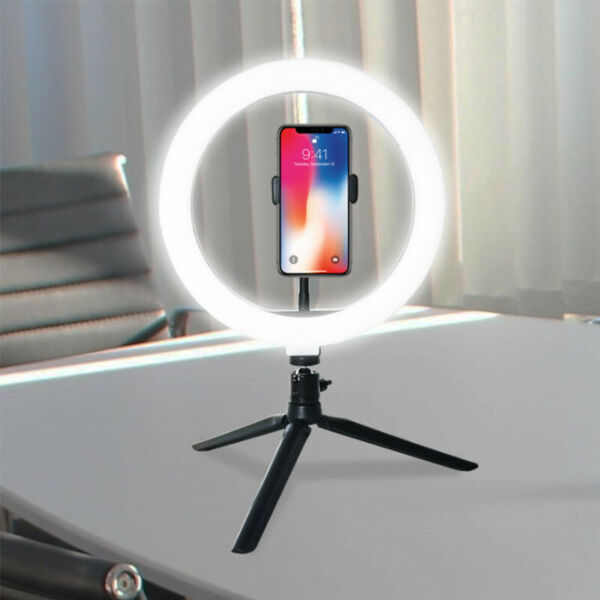 LED Ring Light Lamp Tripod Stand Selfie Camera Phone Studio Photo Video Dimmable