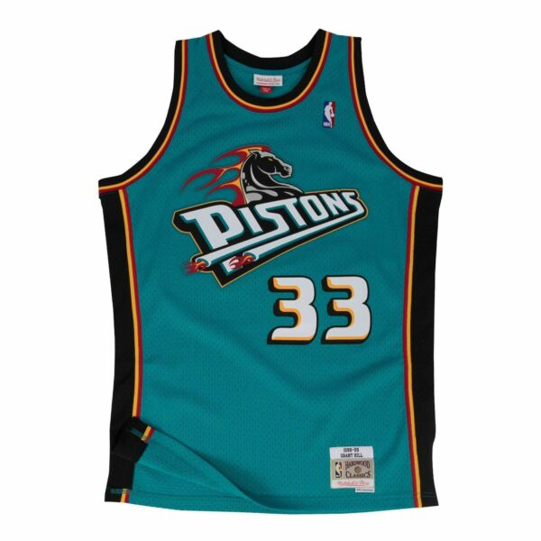 Mens Mitchell & Ness NBA Swingman Road Jersey Pistons 88 Grant Hill
