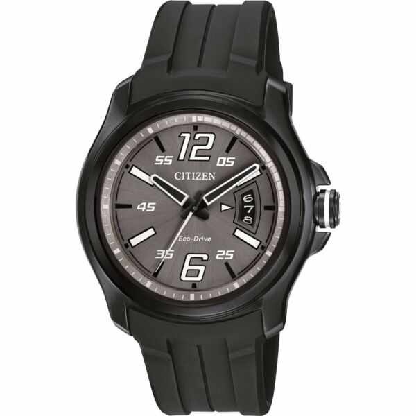 Citizen Eco-Drive Men's Grey Dial Black Poly Band 43mm Sport Watch AW1354-15H