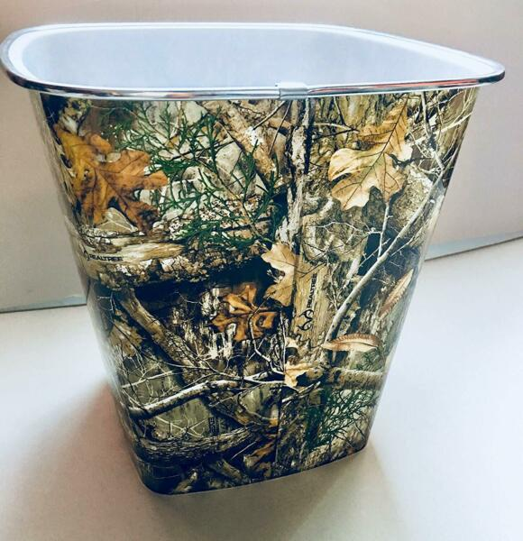 Camouflage Camo  Forest RealTree Trash Can Wastebasket