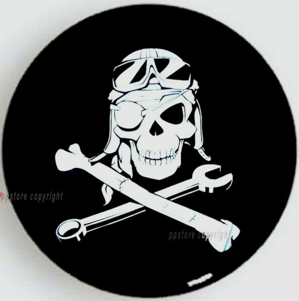 13quot; DIY trailer Spare tire tyre Wheel Protect Cover Mechanical Pirate Skull S $9.88