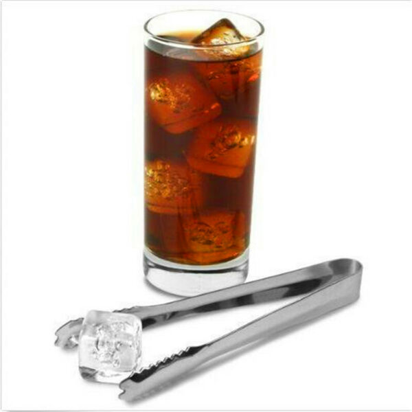 Stainless Steel Sugar Ice Cube Tongs Kitchen Bar Small  Tongs Clamps YD
