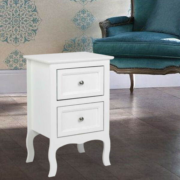 Night Stand Bedroom End Table Bedside Furniture 3 Layer Drawer Sturdy Storage