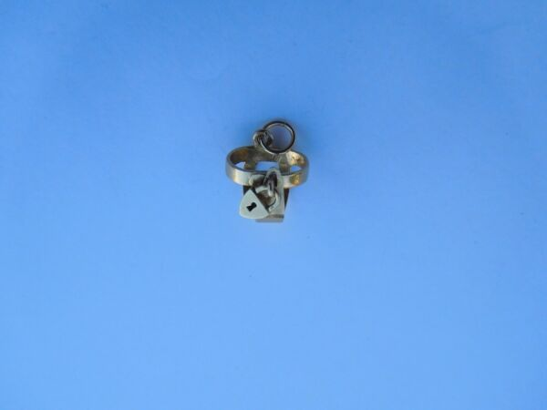 Authentic Original 1900 French Victorian 18K Gold Girdle Heart Locket Charm !