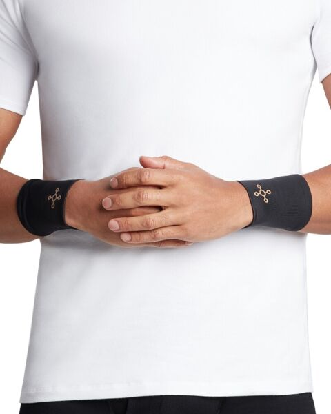 Tommie Copper Men#x27;s Wrist Sleeves Brace Core Fit Compression Band Pair Of Two