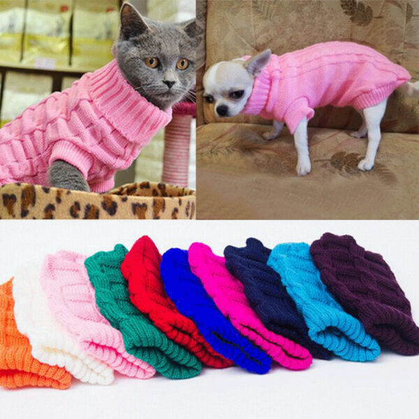 Winter Dog Clothes Puppy Pet Cat Sweater Jacket Coat For Small Dogs Chihuahua $3.35