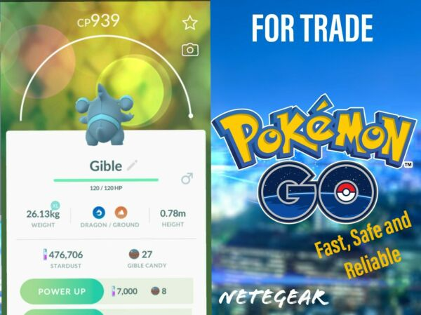 Pokemon Go Gible  Gabite  Garchomp For TRADE  Buy 2 Get 1 FREE 🔥