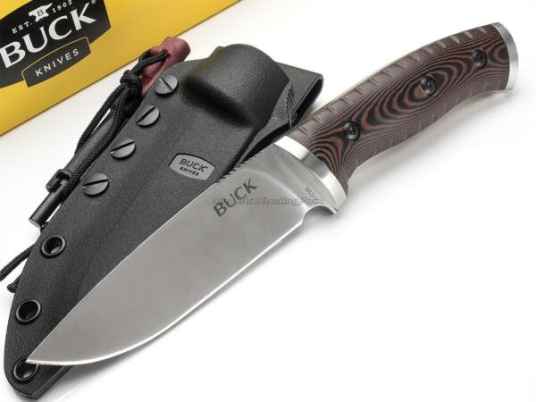 Buck Selkirk Fixed Blade Knife Hunting Survival Micarta 420HC Fire Starter 863