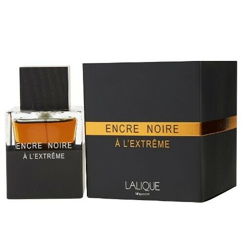 Encre Noire A L'Extreme by Lalique EDP Cologne for Men 3.3  3.4 oz New in Box