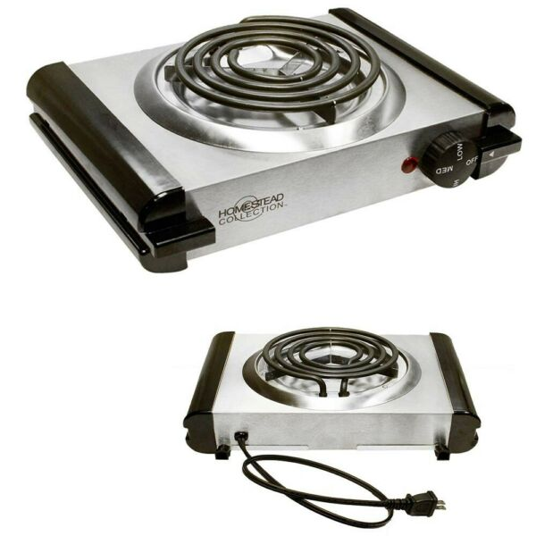Electric Single Burner Stove Portable Cooking Range Camping 120V 1000W