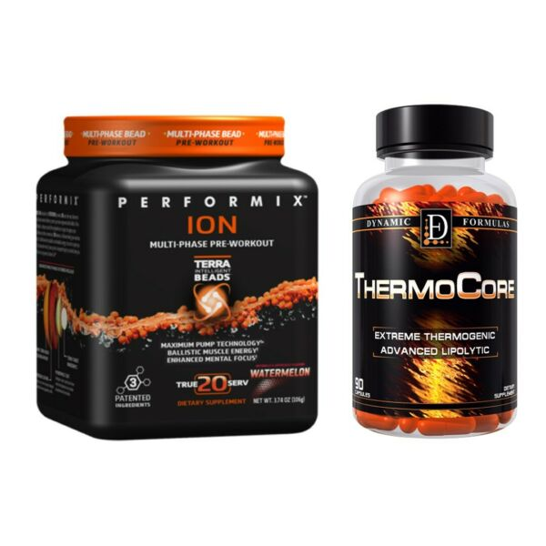 Pre Workout FEAR  Extreme Energy  Fruit Punch & Thermocore * Free Shipping !!