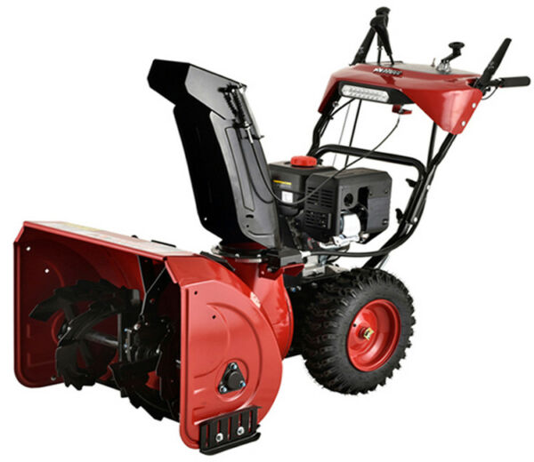 Amico 28 in. 252cc Two-Stage Electric & Recoil Start Gas Snow BlowerThrower
