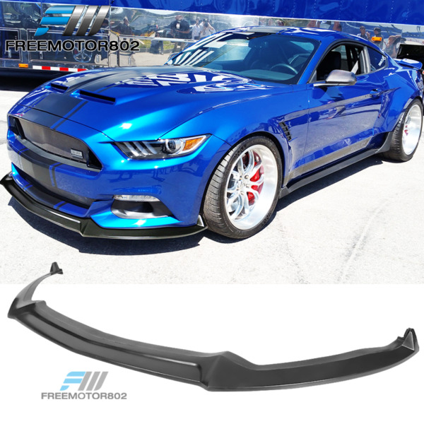 Fits 15-17 Ford Mustang Shelby Style Front Bumper Lip Spoiler - PU Polyurethane