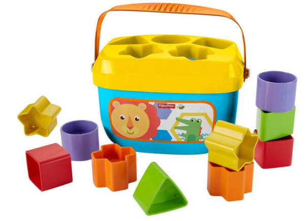 Fisher-Price Baby's First Blocks Baby Colourful Shape Learning Toddler Toy Age