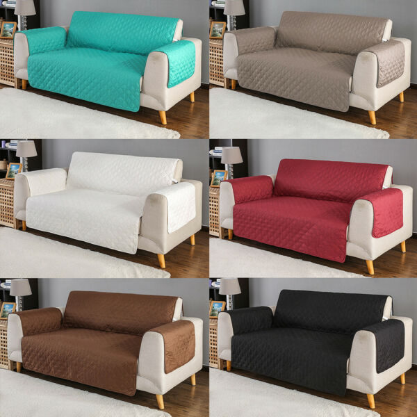 Quilted Sofa Cover Slipcover Waterproof Couch Pet Kid Pad Mat Protector Antislip $22.99