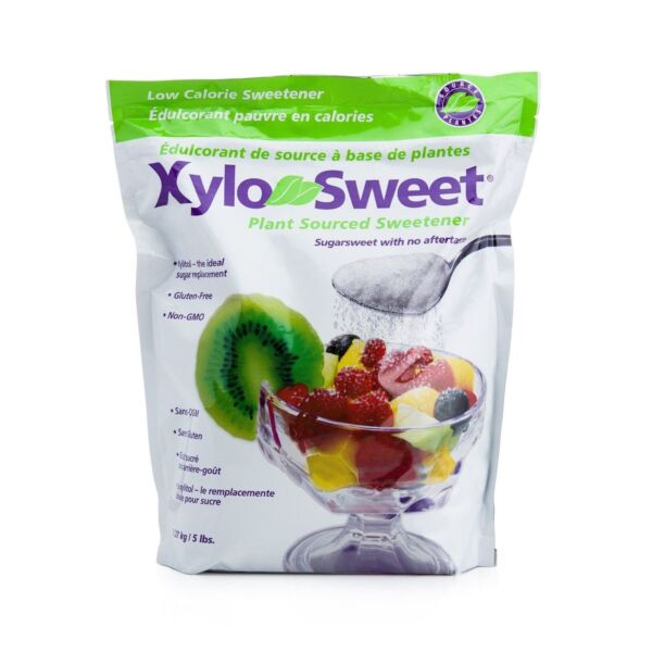 XyloSweet Non GMO Xylitol Natural Alternative Sweetener Granules 5lb Resealable $24.50