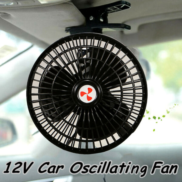 Mini Portable Vehicle Auto Dash Oscillating Fan Clip-On For Car Truck Cooling