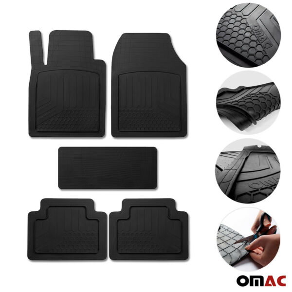 For Honda Civic Waterproof Rubber 3D Molded Black Floor Mats Liner 5 Pcs.