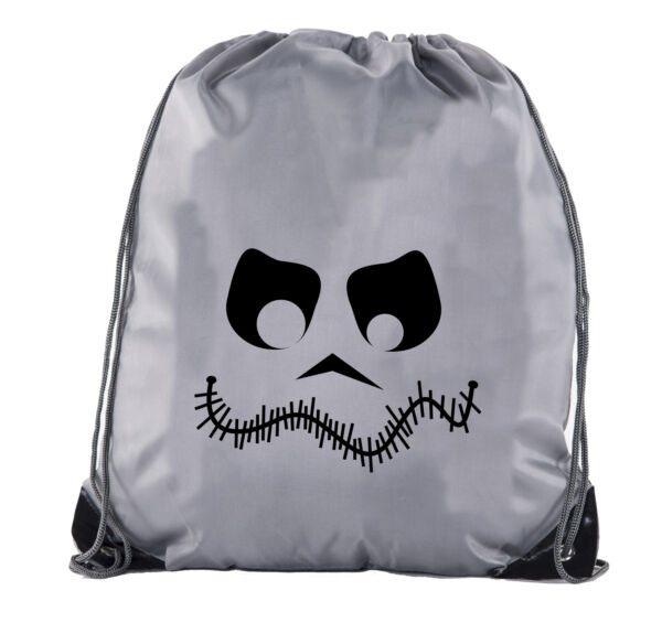 Stitch Face Cinch Bag Halloween Treat Bag for Candy Funny Halloween Cinch Bags