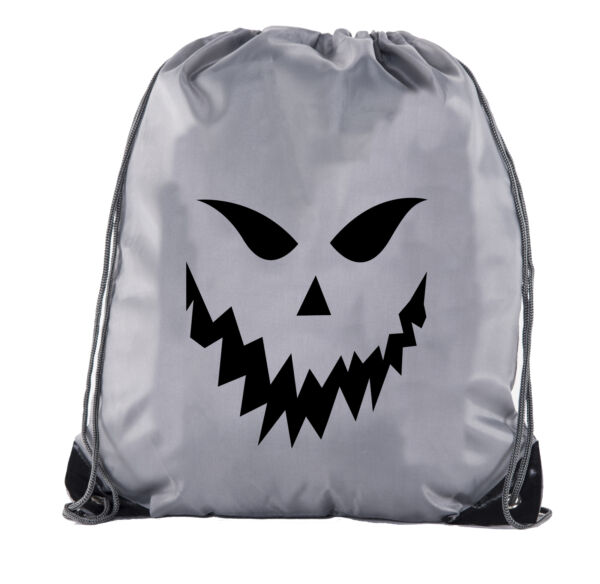Spooky Face Cinch Bag Halloween Treat Bag for Candy Funny Halloween Cinch Bags