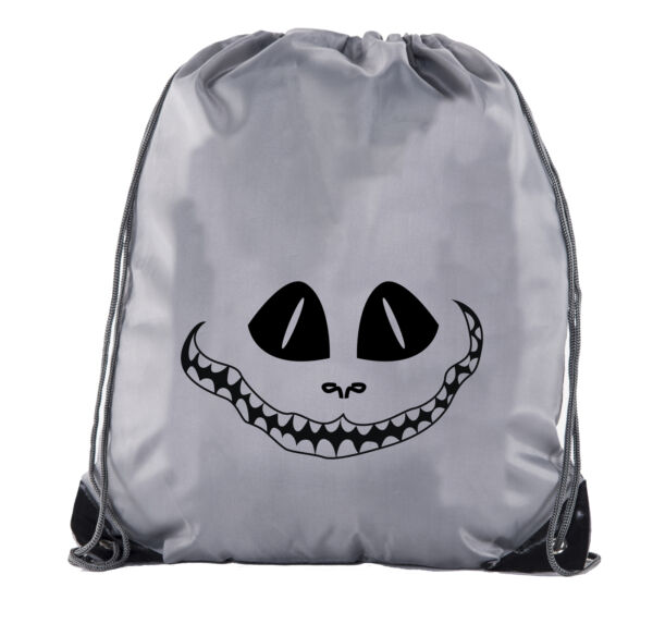 Spooky Grin Face Cinch Bag Halloween Treat Bag for Candy Funny Halloween Bags