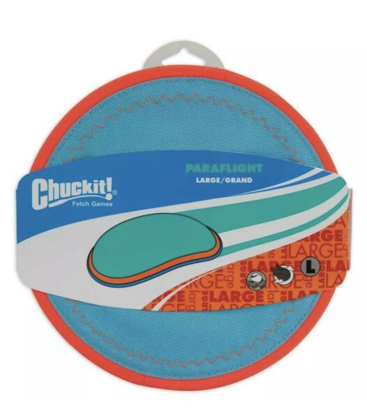 ChuckIt Paraflight Frisbee Interactive Floats in Water Fly Toss Dog Toy Large $10.50