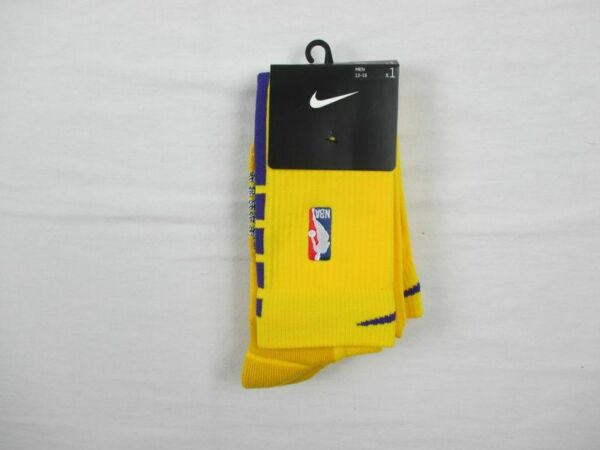 Los Angeles Lakers Nike Knee High Socks Men's Yellow New Multiple Sizes