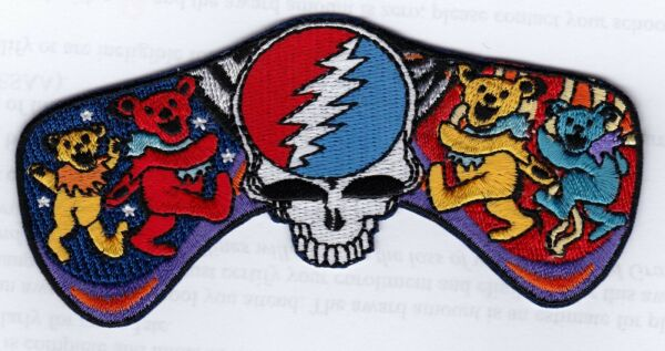 GRATEFUL DEAD - FOUR BEARS with STEEL YOUR FACE IN CENTER - IRON or SEW-ON PATCH