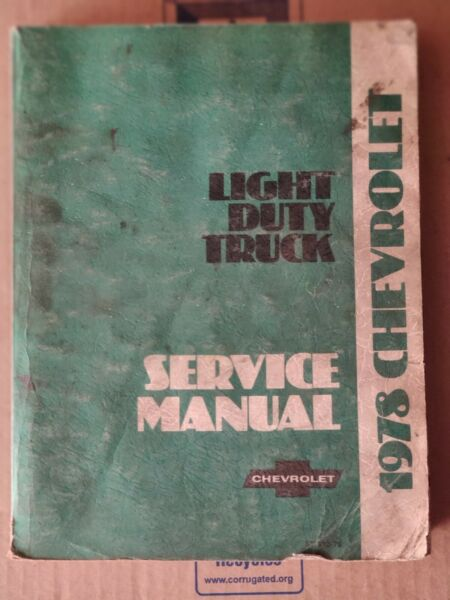 1978 Chevrolet Light Duty Truck Service Shop Manual ST330-78