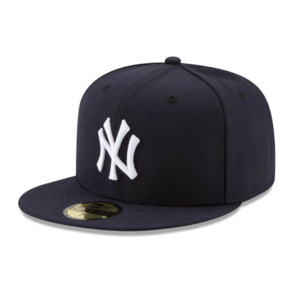 New York Yankees NYY MLB Authentic New Era 59FIFTY Fitted Cap - 5950 Navy Hat