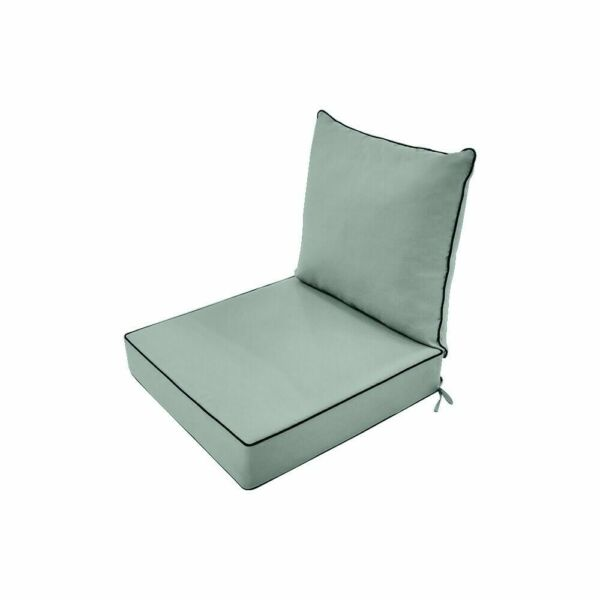 Love Sofa Deep Seat Back Rest Cushion Pillow Outdoor S1 Pastel Green 24 x 24 x5quot; $74.77
