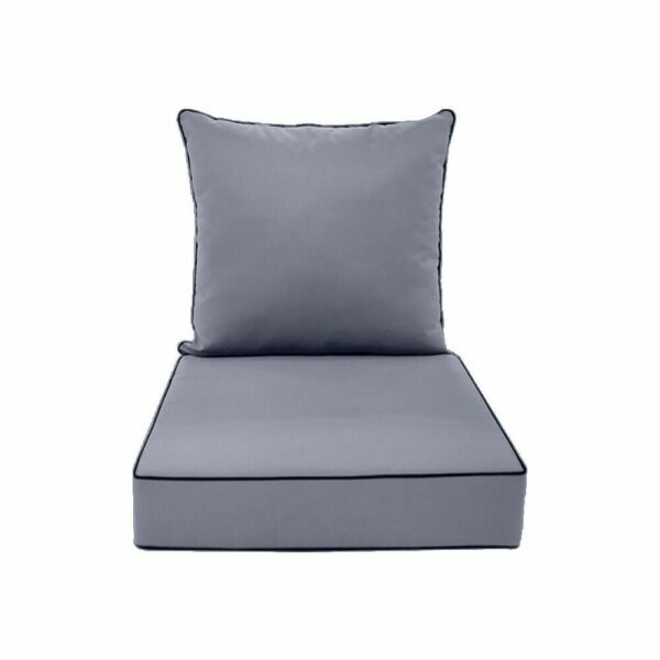 S1 24x26x5 Love Sofa Deep Seat Cushion Back Rest Pillow Outdoor Water Repellent $79.99