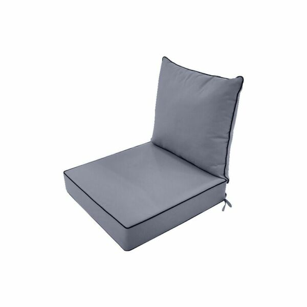 Love Sofa Deep Seat Back Rest Cushion Pillow Outdoor Water Repellent 24x26x5quot; S1 $79.77