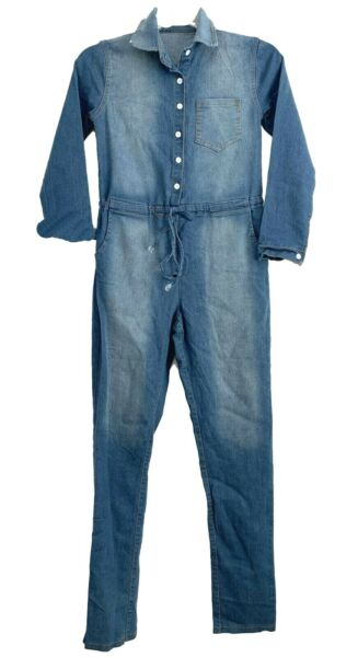 Womens Denim Jumpsuit Dungarees Jeans Overalls Boiler Suit Coveralls One Piece $49.99