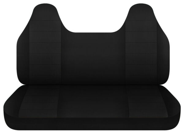 Black bench seat cover w molded HR fits Toyota tacoma Chevy s10 Ford ranger....