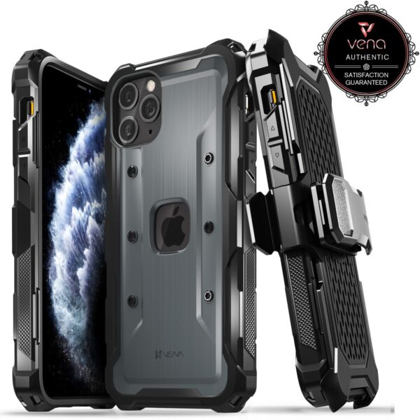 Vena vArmor Heavy Duty Rugged Shockproof Holster Case for iPhone 11 Pro Max