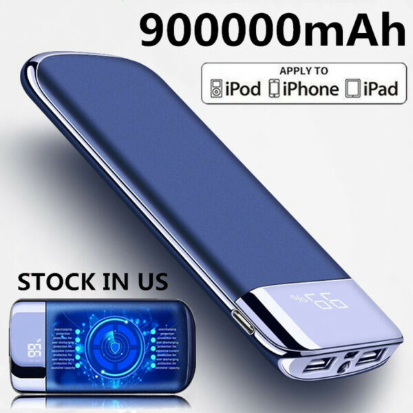 New 900000mAh Power Bank Portable External Battery Huge Capacity Fast Charger