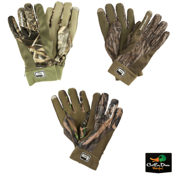 NEW BANDED GEAR TEC FLEECE CAMO BLIND GLOVES DUCK HUNTING B1070009