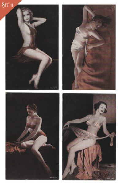 Vintage PIN-UP GIRL Arcade Mutoscope Cards Collector Set 1940s USA