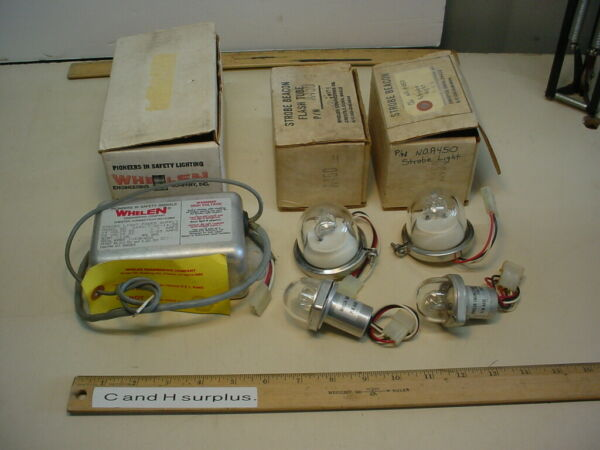 Whelen Strobes and power supply Lot of 5 pcs