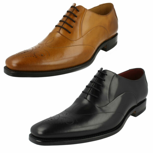 MENS LOAKE SMART WORK FORMAL LEATHER CLASSIC BROGUE LACE UP SHOES GUNNY SIZE
