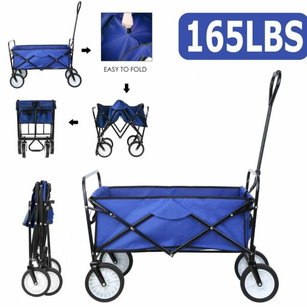 Sports Collapsible Folding Wagon Shopping Cart Utility Garden Buggy Camp Cart US