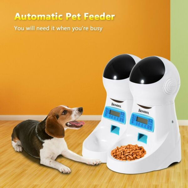 Homodx 4L Automatic Pet Feeder Dog Cat Programmable Animal Food Bowl Auto