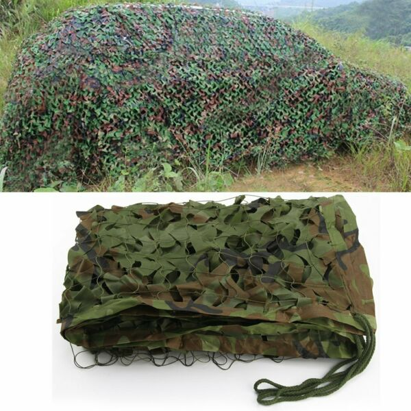 Woodland Camouflage Netting Jungle Military Army Camping Hide Shade Cover 13x5ft