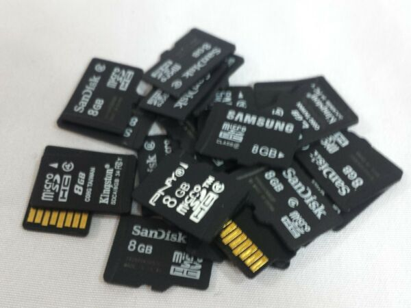 Lot of 10 Mixed Brand 8GB Micro SD Cards