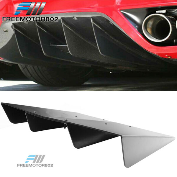 Universal Rear Diffuser Underbody Assembly 22x20 in Unpainted - ABS Plastic