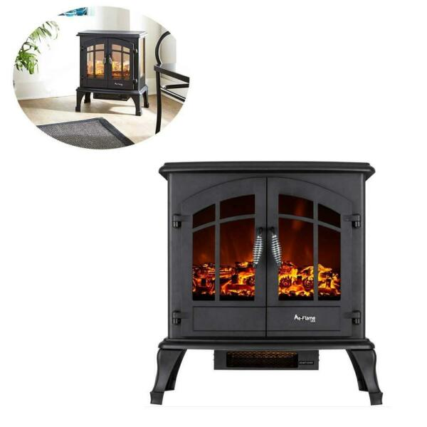 1200W Portable Free Standing Electric Fireplace Household Electric Heater