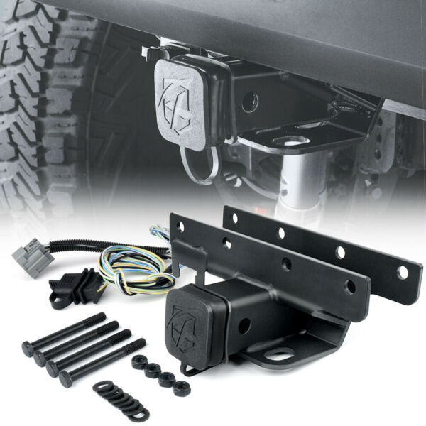 Xprite Steel 2 In Rear Towing Trailer Hitch Receiver for 07 18 Jeep Wrangler JK $41.39