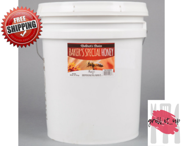 Pure Honey 60 lb 5 Gallon Pail Monarch's Choice Bakers Special FREE SHIPPING!